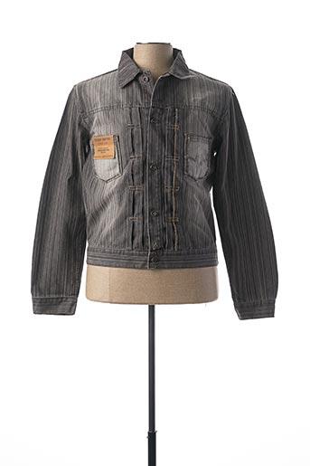 Veste en jean gris TEDDY SMITH pour homme
