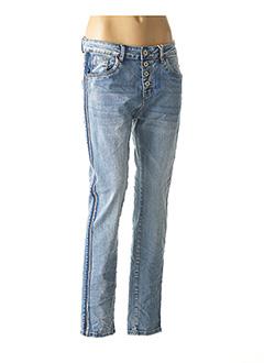 Jeans boyfriend bleu KAROSTAR pour femme