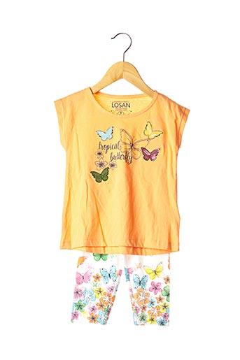 Top/pantalon orange LOSAN pour fille