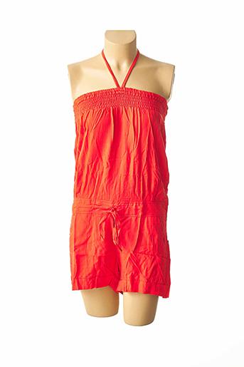 Combishort orange BEACHWEAR pour femme