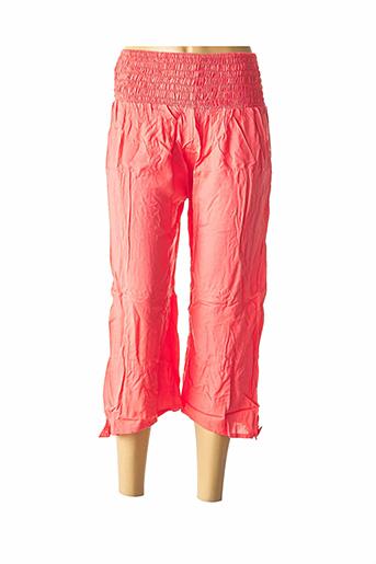 Pantalon 7/8 rose BEACHWEAR pour femme