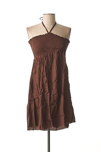 Robe courte marron BEACHWEAR pour femme