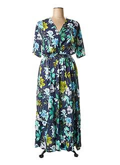 Robe longue bleu HALOGENE pour femme