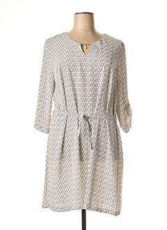 Robe mi-longue blanc HALOGENE pour femme