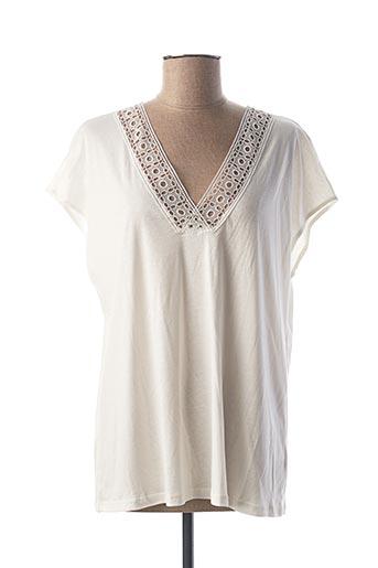 T-shirt manches courtes blanc CALIDA pour femme