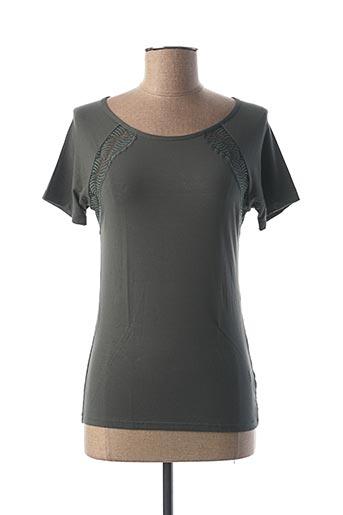 T-shirt manches courtes vert CALIDA pour femme