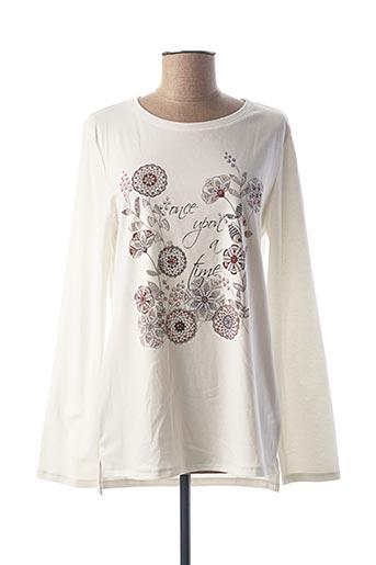 T-shirt manches longues blanc CALIDA pour femme