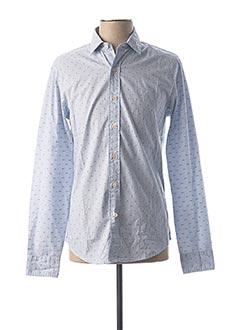 Chemise manches longues bleu DOCKERS pour homme