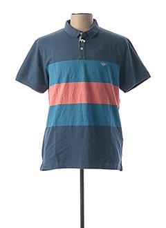 Polo manches courtes bleu DOCKERS pour homme