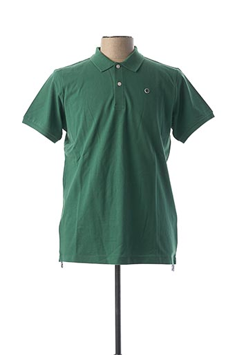 Polo manches courtes vert SERGE BLANCO pour homme