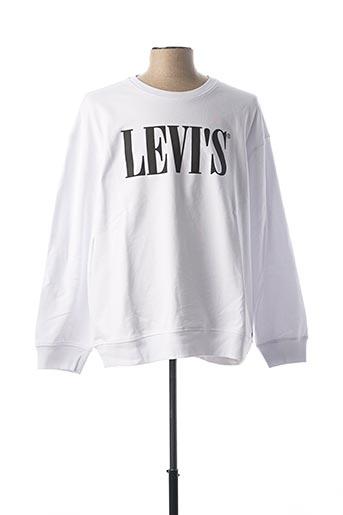 Sweat-shirt blanc LEVIS pour homme