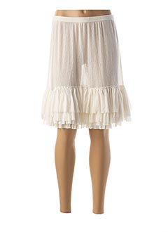 Jupe mi-longue blanc MYRINE & ME pour femme