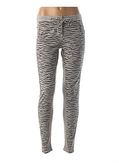 Pantalon casual gris SANDWICH pour femme