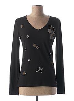 T-shirt manches longues noir ONE STEP pour femme