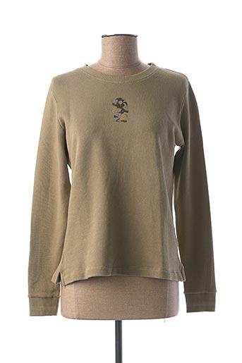 Sweat-shirt vert DIPLODOCUS pour femme