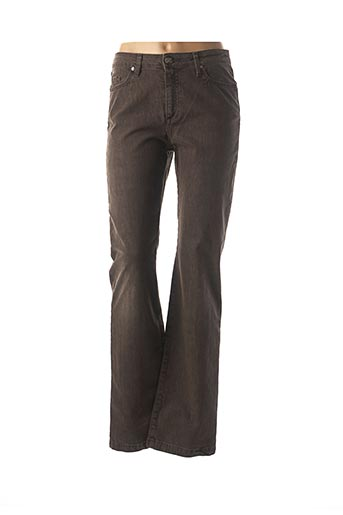 Jeans coupe droite marron EMMA & CARO pour femme