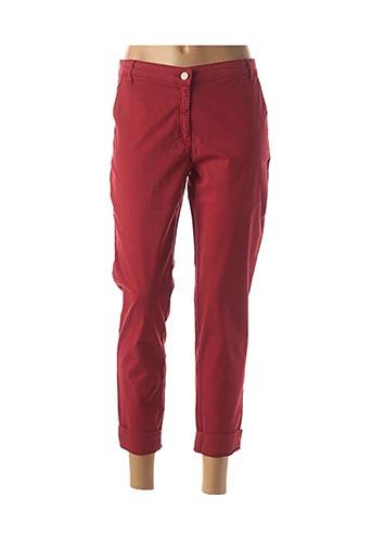 Pantalon 7/8 rouge DIPLODOCUS pour femme