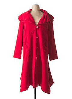 Manteau long rouge JEAN MARC PHILIPPE pour femme