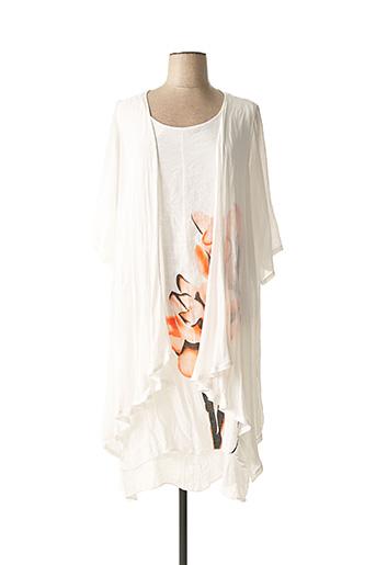 Veste/robe blanc NANA BELLE pour femme
