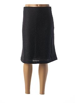 Jupe mi-longue noir CREEKS pour femme