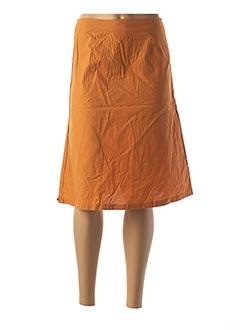 Jupe mi-longue orange CREEKS pour femme
