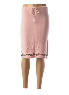 Jupe mi-longue rose CREEKS pour femme