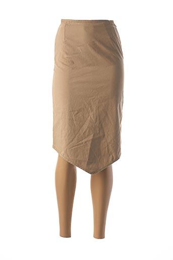 Jupe mi-longue beige CHATTAWAK pour femme