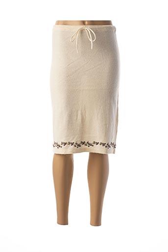 Jupe mi-longue blanc CREEKS pour femme