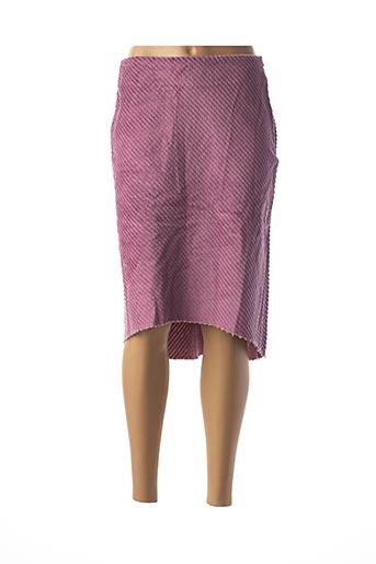 Jupe mi-longue violet CREEKS pour femme