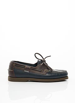 Chaussures bâteau bleu CHRISTIAN PELLET pour homme