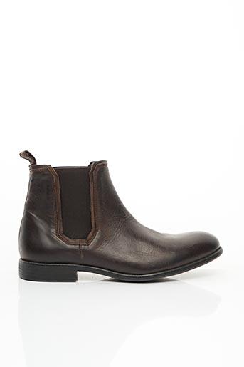 Bottines/Boots marron HEXAGONE pour homme