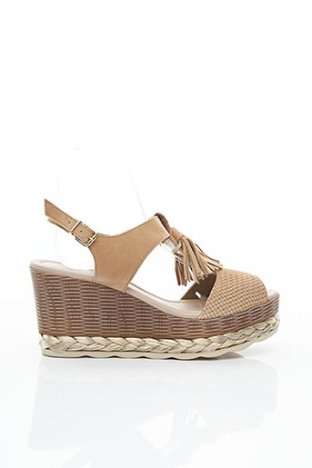 Sandales/Nu pieds marron ANOUCH.K pour femme