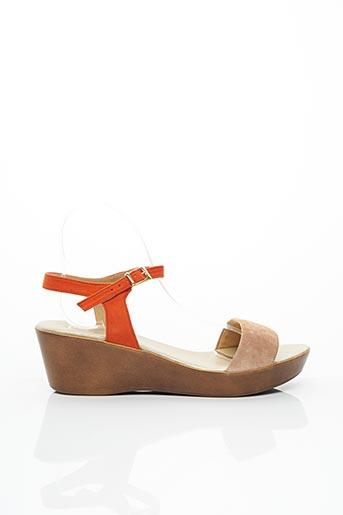 Sandales/Nu pieds marron BZ BIS pour femme