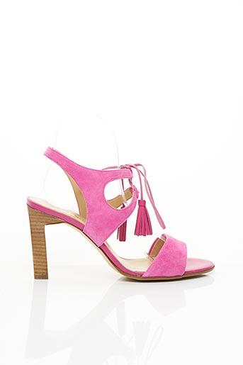 Sandales/Nu pieds rose FRANCE MODE pour femme