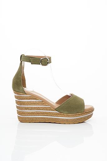 Sandales/Nu pieds vert ANOUCH.K pour femme