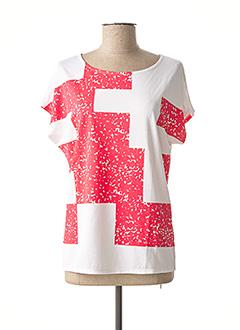 T-shirt manches courtes rouge MARBLE pour femme