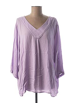 Blouse manches longues violet CISO pour femme