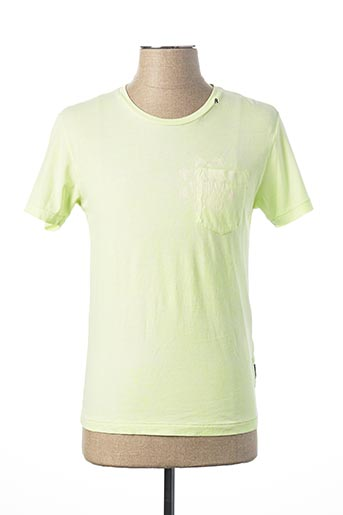 T-shirt manches courtes jaune REPLAY pour homme