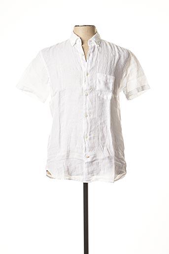 Chemise manches courtes blanc SERGE BLANCO pour homme