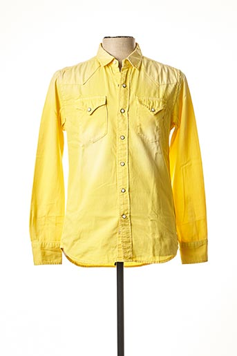 Chemise manches longues jaune REPLAY pour homme