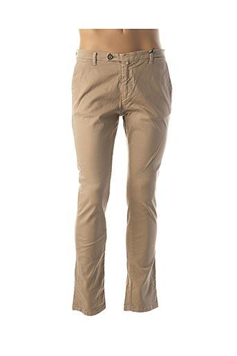 Pantalon casual beige INDIVIDUAL pour homme