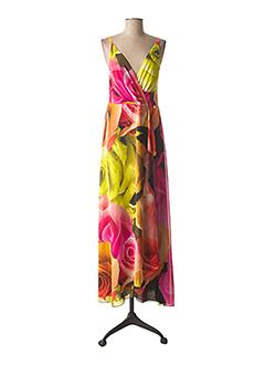 Robe longue rose CARLA MONTANARINI pour femme