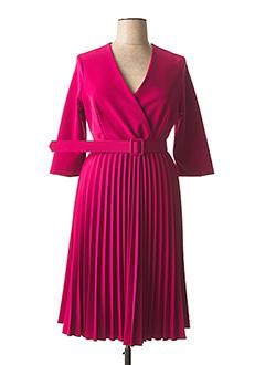 Robe mi-longue rose CARLA MONTANARINI pour femme