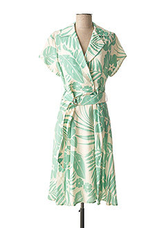 Robe mi-longue vert CARLA MONTANARINI pour femme