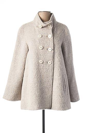Manteau court gris BERNI pour femme