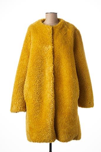 Manteau long jaune CARLA MONTANARINI pour femme