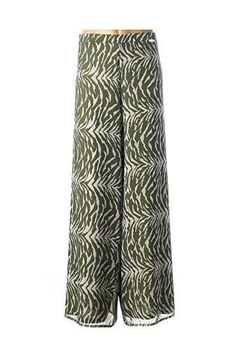 Pantalon chic vert DAMA MIA pour femme