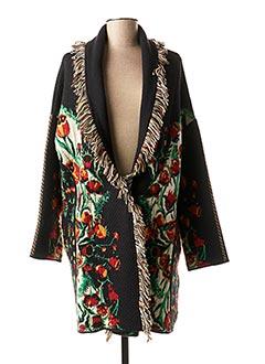 Manteau long noir ALDOMARTINS pour femme