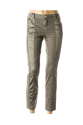 Pantalon 7/8 vert DANIELA DALLAVALLE pour femme