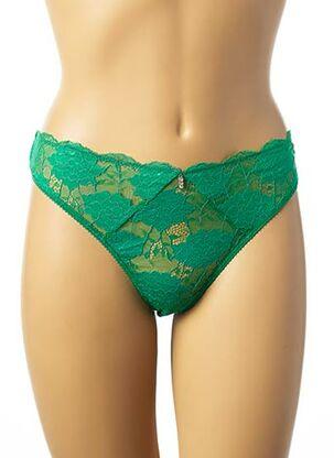 String/Tanga vert IMPLICITE pour femme